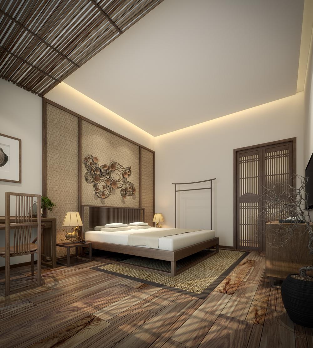 禅意木格栅作为整体家居创意元素,古朴的造型融合了现代设计灵感,每